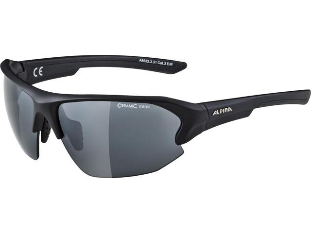 Alpina Lyron HR Okulary rowerowe, black matt